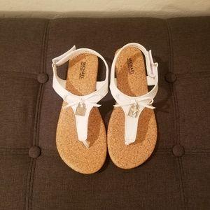 Michael Kors Stacie Lock White Sandals